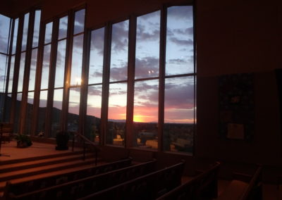 Sunset From Inside Sanctuary